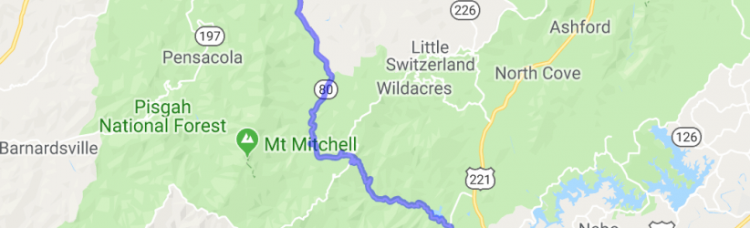 North Carolina's Route 80 (AKA Devil's Whip) |  North Carolina