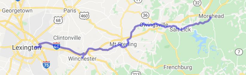 Morehead to Lexington on US60    Kentucky