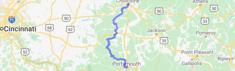 Chillicothe to Portsmouth - the scenic ride    Ohio