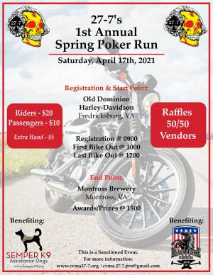 CVMA© VA 27-7 1st Annual Poker Run |  Virginia