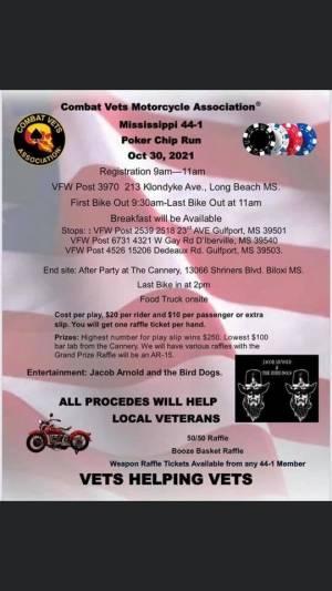 CVMA 44-1 Poker Run |  Mississippi
