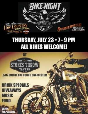Bike Night at Stones Throw Tavern |  South Carolina