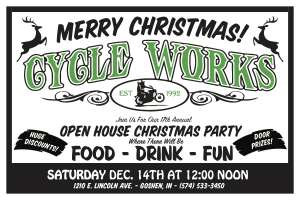 Cycle Works 17th Christmas Open House |  Indiana