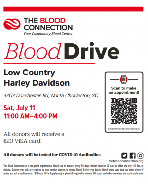 The Blood Connection Blood Drive |  South Carolina