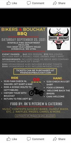 Bikers 4 Bouchat BBQ |  Maryland