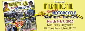 9th Annual Vintage Motorcycle Alliance Swap Meet & Bike Show |  Florida