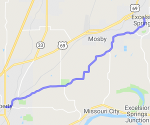 County Road H from Liberty MO to Excelsior Springs |  United States