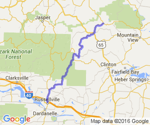 Arkansas Highway 27 from Russellville to Harriet |  Arkansas