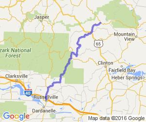 Arkansas Highway 27 from Russellville to Harriet |  Arkansas