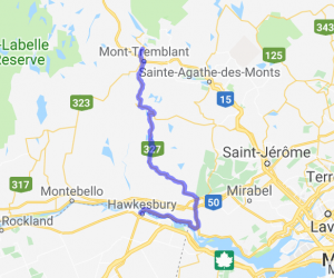From Hawkesbury to Mont Tremblant on Route 327 (Quebec, Canada) |  Canada