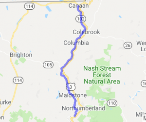 102S: Windy, Twisty River Road from Canaan to Northumberland |  Vermont