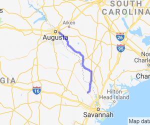 Scenic Route from Springfield to Augusta |  Georgia