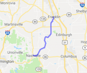 Franklin to Nashville, Indiana |  Indiana
