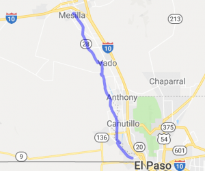 Route 28 from Sunland Park North to Mesilla |  New Mexico