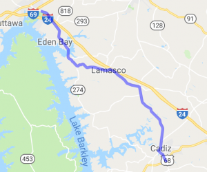 Routes 92 and 139 East of Kentucky Lake |  Kentucky