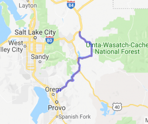 Wanship to Orem Lakes ride |  Utah