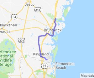 US Hwy 17 - Darien to Cumberland Island |  Georgia