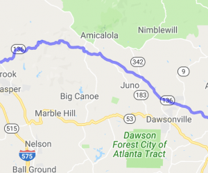 Talking Rock to Dahlonega - Route 136 |  Georgia