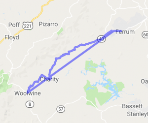 Route 40 - Charity Hwy - Ferrum to Woolwine |  Virginia