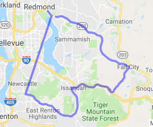 New Castle to Redmond Half Loop |  Washington
