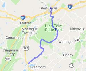 Northern New Jersey: Stokes State Forest through High Point to Port Jarvas |  New York