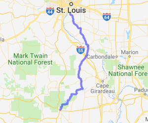 MO 51/IL 3 - Back way from Poplar Bluff to St. Louis |  Missouri