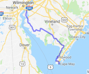 From the Delaware Memorial Bridge to Cape May New Jersey |  New Jersey