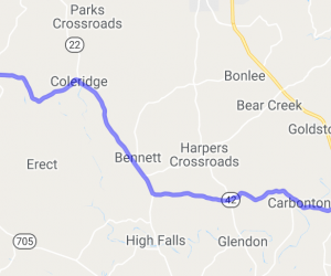 Route 42 - Sanford to Asheboro North Carolina |  North Carolina