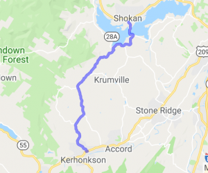 "Kerhonkson (""Gunks"") to the Ashokan Reservoir (Catskills) 