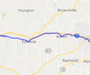 Highway 80 - West of Jackson0    Mississippi