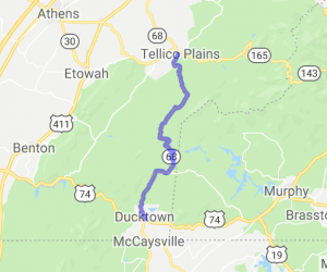 TN Hwy 68: from Ducktown to Telico Plains |  Tennessee