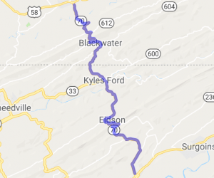 Route 70 from Rogersville TN to Jonesville VA |  Virginia