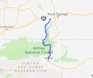 Ashley National Forest to Flaming Gorge National Recreation Area |  Utah