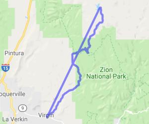 Kolob Road from Virgin, Utah |  Utah