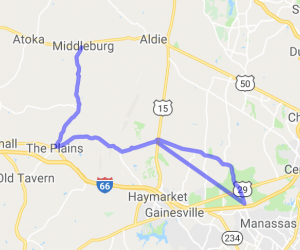 Manassas to Middleburg |  Virginia