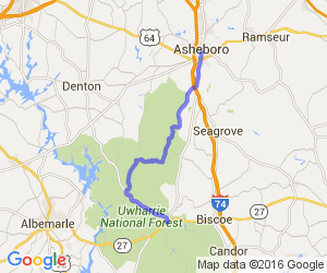 Jump Off Rock to Asheboro |  North Carolina
