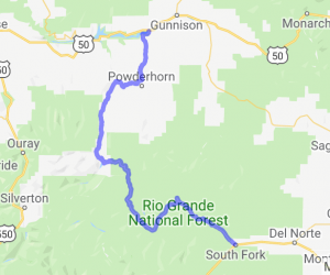 Colorado Route 149 - South Fork to Gunnison |  Colorado