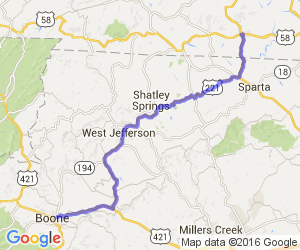 US 221 - Independence, VA to Boone, NC |  Virginia