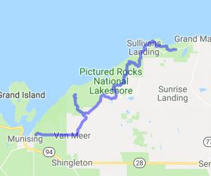 UP's Northen Coast Tour on County Rd. H58 |  Michigan