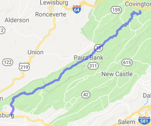 Covington to Pearisville |  West Virginia