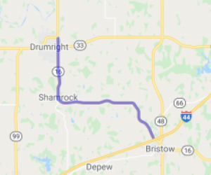 Bristow to Drumright OK Sport-Touring Scenic Highway |  Oklahoma
