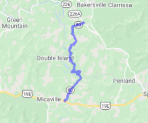 North Carolina Route 80 (Between 19E and 226A) - The Popper of the Devil's Whip |  North Carolina