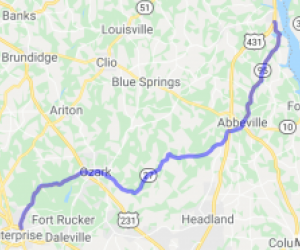 AL 27 to SR 27 to AL 95 |  Alabama
