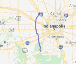 Leisurely Country Bypass Around Indianapolis |  Indiana