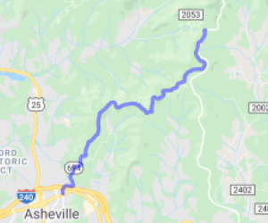 Route 694 in Asheville to the BRP |  North Carolina