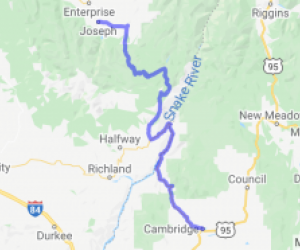 Cambridge Idaho to Joseph Oregon |  Oregon