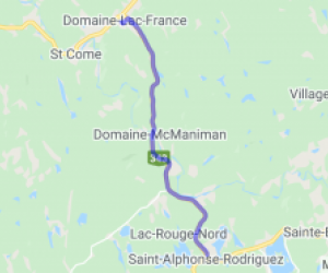 Domaine-Lac-France to Saint-Alphonse-Rodriguez |  Canada