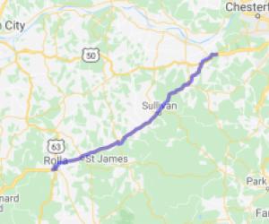 US Route 66 - Grey Summit to Rolla |  Missouri