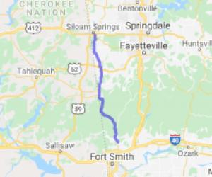 AR-59 - Siloam Springs to Figure Five |  Arkansas