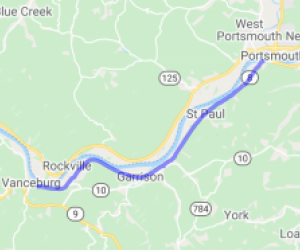 River run from Portsmouth, OH to Vanceburg, KY on KY8 |  Kentucky